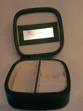 Authentic Swarovski Green Mirror Jewelry Case for Ring, Mirror + Earrings