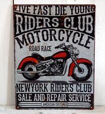 Blechschild Metallschild Schild XL groß Harley Motorrad Biker Wand Deko Garage