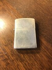 Rare Full Size 1970's Sterling SilverVintage Zippo Lighter