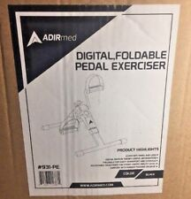 AdirMed Digital Foldable Mini Floor Foot Pedal Exerciser Leg Machine Under desk