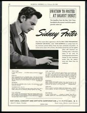 1943 Sidney Foster photo piano recital tour booking vintage print ad