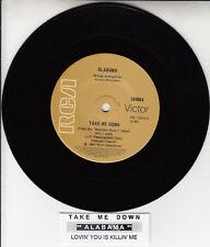 "ALABAMA  Take Me Down 7"" 45 rpm vinyl record NEW + jukebox title strip"