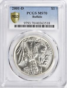 2001-D Buffalo Commemorative 🛡 Silver Dollar - PCGS MS70 Secure Holder