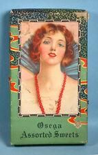 1930s Pin-up Girl Candy Box Osega Assorted Sweets Chocolate Baltimore Maryland