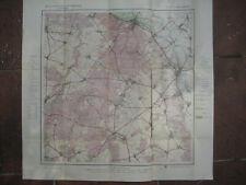 Landkarte Berlin und Umgebung in 12 Blättern Blatt 4  Freienwald ca 1914 Wriezen