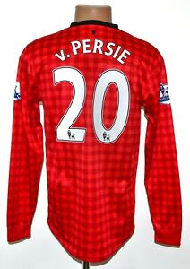 MANCHESTER UNITED 2012/2013 HOME FOOTBALL SHIRT NIKE #20 V.PERSIE LONG SLEEVE