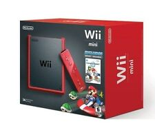 Nintendo Wii Mini System w/ Mario Kart - RED [Nintendo Wii, NTSC, Console] NEW
