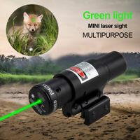 Tactical Green Laser Beam Dot Sight Scope For Gun Rail Pistol Weaver Hunting