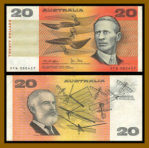Australia 20 Dollars, 1979 P-46c Knight/ Stone Banknote Circulated (Cir)