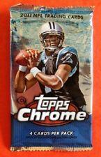 2011 Topps Chrome NFL Football Single Hobby 4cdpack - Complete Checklist Inside