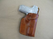 Colt 1903 380 .380acp Leather Clip On Owb Belt Concealment Holster Ccw - Tan Rh