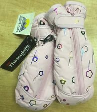 N'Ice Caps Thinsulated Girls Gloves, Pink/Multi, 2-4 Years
