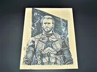 Marvel Captain America Hand Drawn Original Art Work
