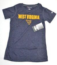 NCAA West Virginia Mountaineers Girls Champion SOFT T-Shirt Navy Heather M 7/8