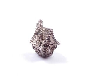 Rare Vintage Haunted House Charm Opens To Ghost Sterling Silver 6.2g