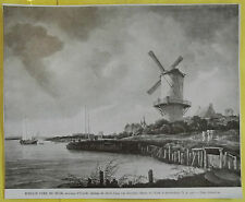 Old Print 1930 Original Larousse Moulin Nearly WIJK