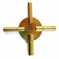 Brass Universal Clock Key for Winding Clocks 5 Prong EVEN Numbers (5190)