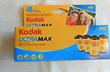 New Listing4 Rolls Kodak UltraMax 35mm 400Speed Color Film 24 Exposure each Expired 08/2010