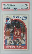 1989 89 HOOPS All-Star Michael Jordan #21, Chicago Bulls, HOF, Graded PSA 8