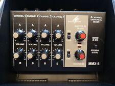 Monacor MMX-8, 8 Kanal Mikro Mixer, Mini Mischpult