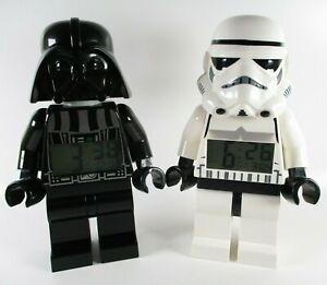 LEGO Darth Vader & Stormtrooper Digital Alarm Clock Bundle