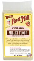 Bob's Red Mill Whole Grain Millet Flour 500g *GLUTEN, WHEAT & DAIRY FREE*