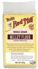 Bob's Red Mill grain entier Millet farine 500g * gluten, blé & Dairy gratuit *