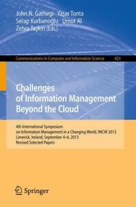 Challenges of Information Management Beyond the Cloud (2014, Taschenbuch) 24E