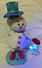 Gemmy Animated Snow Miser Snowman Christmas YEAR WITHOUT SANTA spins snowflakes