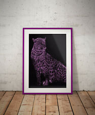 Leopard, Typography print, poster, prints, posters, watercolour, wallart, gift
