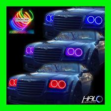 2005-2010 Chrysler 300c Colorshift LED Scheinwerfer Halo Set 4 Rings von Orakel
