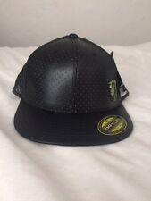 Men's One Industries Monster Energy Black 210 FlexFit Fitted Hat 7 1/4-7 5/8