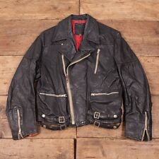 Femme vintage 1980s boxy cuir noir perfecto taille s R2934