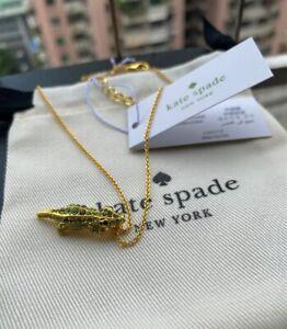 Kate Spade  Swamped Pavé Alligator Mini Pendant Necklace