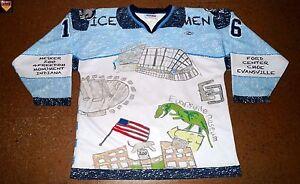 Evansville Icemen * 14/15 * No. 16 * Myles Bell * white/home/Education Day *