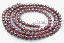 """SALE Small 3 to 4mm Round high quality Natural Brown garnet Beads strand 15""""-202"""