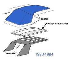 VOLKSWAGEN VW RABBIT AND CABRIOLET CONVERTIBLE TOP PAD SET 1980-1994