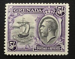 Grenada George V 1934 5/- black & violet m/m SG 144 (ct £48)