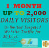 Unlimited Targeted Website Traffic for 30 days $ 3.89