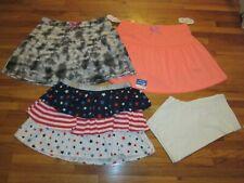 NEW Lot GIRL size XXL 18  skorts & patriotic skirt + bike shorts