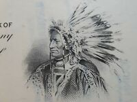 The American Brands Company Stock Certificate Indian Chief Graphics