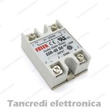 RELE' STATO SOLIDO SSR 40A 250V RELAY 3-32VDC 24-380VAC SSR40DA RELè CE SSR-40DA