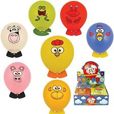 Balloon Heads Animal Sticker Boy Girl Childrens Kids Toys Loot Party Bag Fillers 8