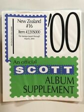 New Zealnd Album Pages Brand New Scott Supplement Years 2000-02 FREE Shipping