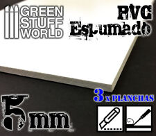 PVC Espumado 5mm - Forex - Maquetas - Tejas - Techos - Planchas - Folio - Dina4