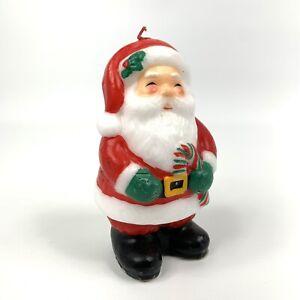 Vintage Avon Jolly Santa Candle Christmas Candle Santa Holiday Decoration