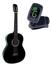 akustische Konzertgitarre Klassik Gitarre 4/4 Akustikgitarre  Holz-Linde schwarz