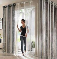 1 Fadenvorhang Store Insektenschutz Raumteiler schwarz natur Ösen B/H 140 x 150