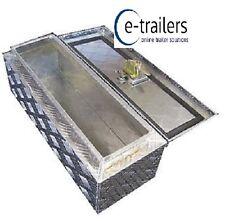 Chequer Plate Truck Trailer Storage Locking Tool Box Aluminium 640 x 230 x 230mm