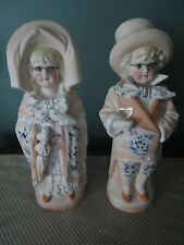 ANTIQUE PAIR OF GERMAN BISQUE FIGUERINES EARLY 1900'S
